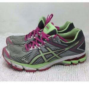 ASICS GT-1000 Running Sneakers Pink Green Sz 10.5